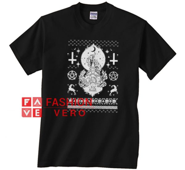 Reindeer star cross skullcap christmas Unisex adult T shirt