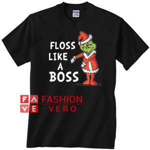 Santa Grinch floss like a boss Christmas Unisex adult T shirt