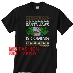 Santa Jaws is coming Shark Unisex adult T shirt
