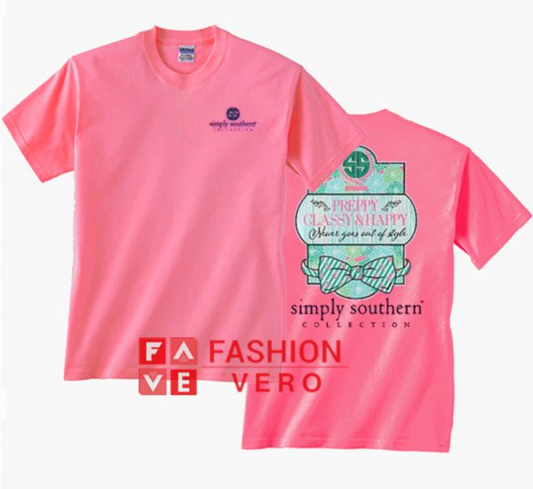 Simply Southern preppy Classy Happy Pink Unisex adult T shirt