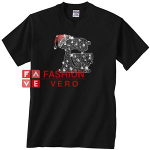Snoopy Baking Glitter and rhinestones with santa hat Unisex adult T shirt