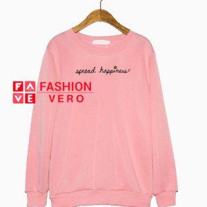 Spread Happiness Light Pink Sweatshirt