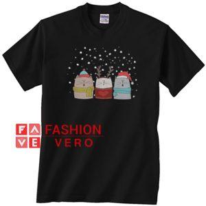 Three Cat Sing Christmas Unisex adult T shirt