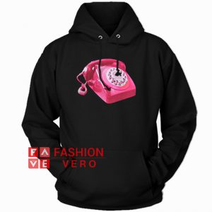 Vintage Pink Telephone HOODIE - Unisex Adult Clothing