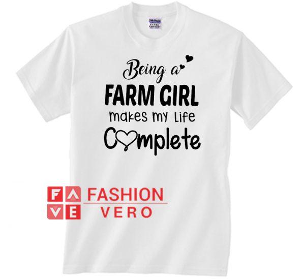Being A Farm Girl Unisex adult T shirt
