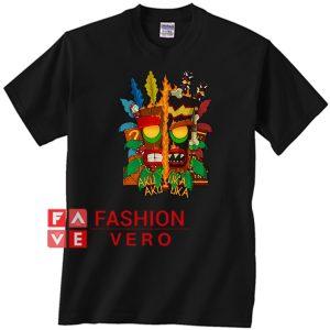 Crash Bandicoot Aku Aku Uka Uka Unisex adult T shirt