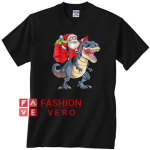 Santa Claus Riding T-Rex Dinosaur Christmas Unisex adult T shirt