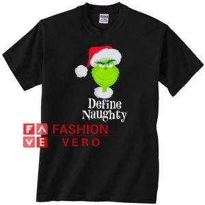 Santa grinch define naughty Unisex adult T shirt