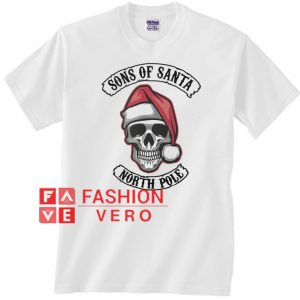 Santa skull sons of Santa north pole Unisex adult T shirt