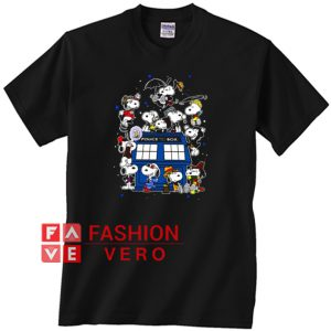 Snoopy Of Doctor Police Box Unisex adult T shirt