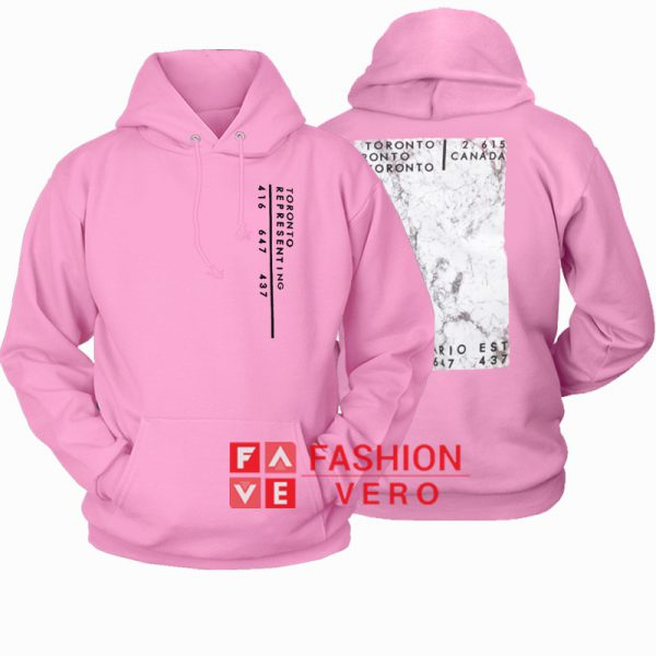 Toronto Representing Light Pink HOODIE Unisex Adult Clothing