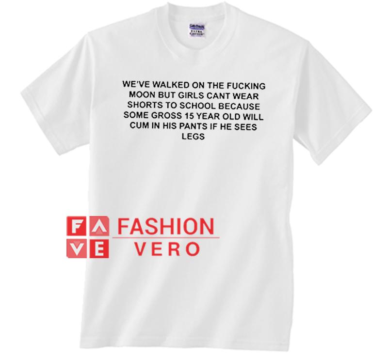7a12691e98 We've Walked On The Fucking Moon Unisex adult T shirt