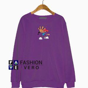 Kids Next Door Numbuh 5 Purple Print Sweatshirt