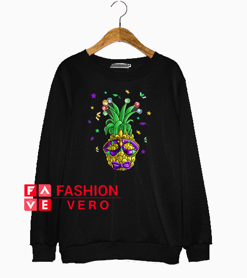 Pineapple Mardi Gras Sweatshirt