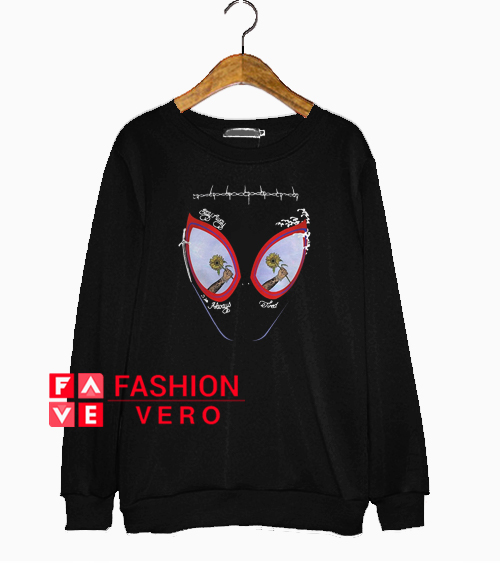 688d1171 Post Malone stay away always tired Spider man mask Sweatshirt