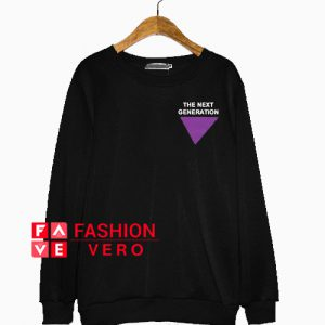 Purple triangle The Next Generation Sweatshirt