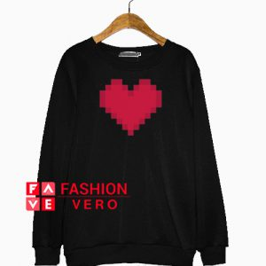 Red Pixel Heart for Nerds Sweatshirt