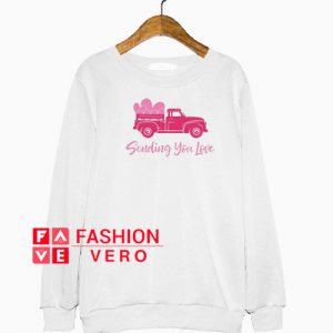 Red Truck Valentines Sweatshirt