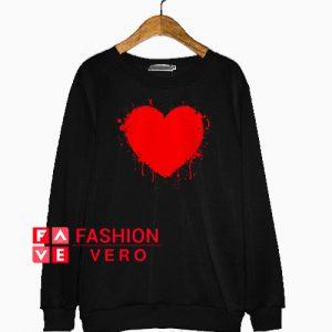 Splatter Heart Valentine Day Sweatshirt