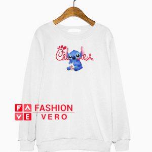 Stitch Drinking Chick Fil A Sweatshirt