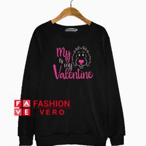 Valentine Doodle Charcoal Sweatshirt