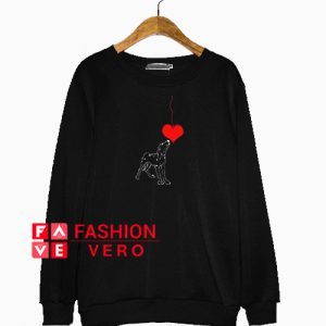 Valentine Heart Dog Sweatshirt