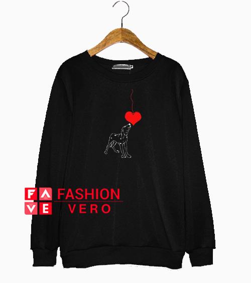 Valentine Heart Dog Sweatshirt
