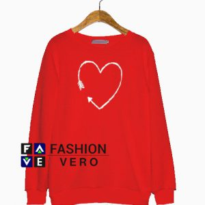 Valentine's Day Arrow Heart Sweatshirt