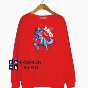 Valentines Day Dinosaur RAWR Sweatshirt