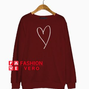 Valentines Heart Shape Sweatshirt
