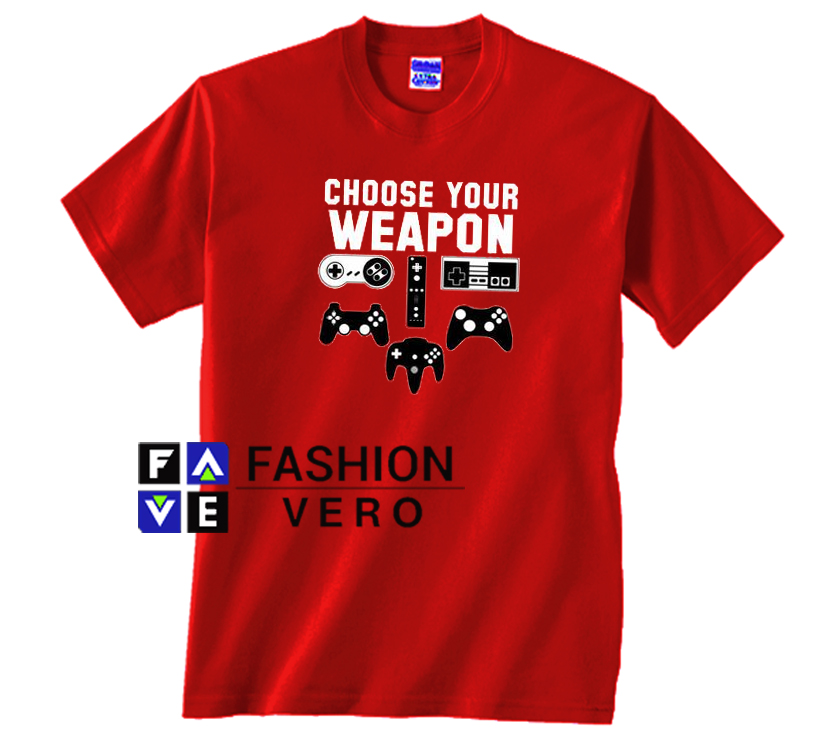 Choose Your Weapon Adult T-Shirt