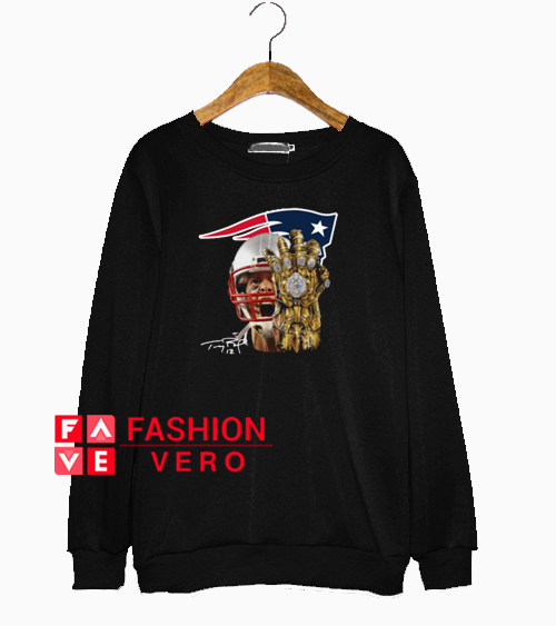 Patriots Infinity Gauntlet Tom Brady Sweatshirt