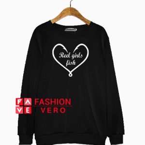 Reel Girls Fish Heart Love Sweatshirt