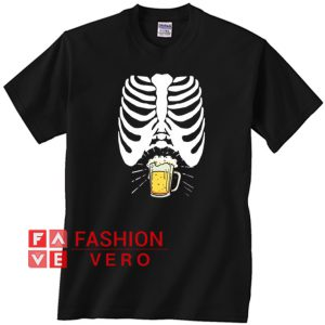 Skeleton Beer Belly Unisex adult T shirt