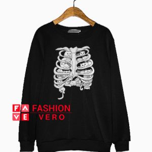 Skeleton chest cat Sweatshirt