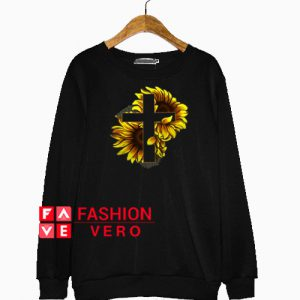 Sunflower Christian Cross Sweatshirt