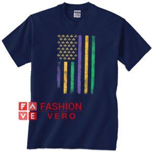 US mardi gras flag celebration Unisex adult T shirt