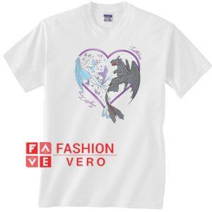 dragon 3 night fury love light fury Unisex adult T shirt