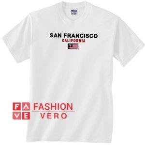 San Francisco California Flag Unisex adult T shirt