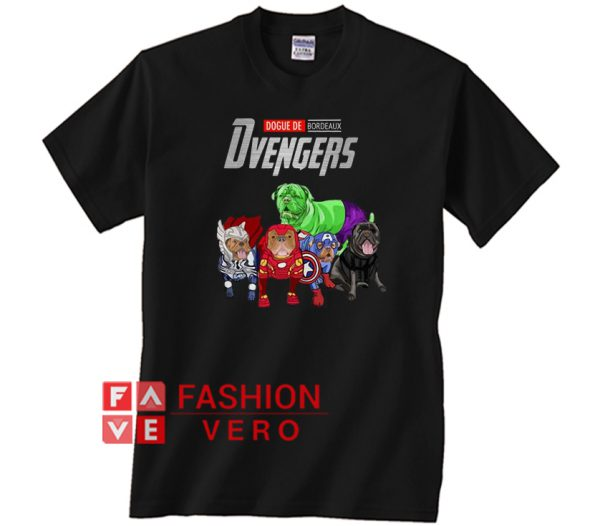 Marvel Avengers Dogue DE Bordeaux Stronger Dvengers Unisex adult T shirt