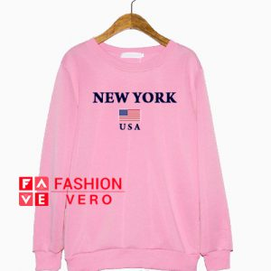 New York Usa Flag Sweatshirt