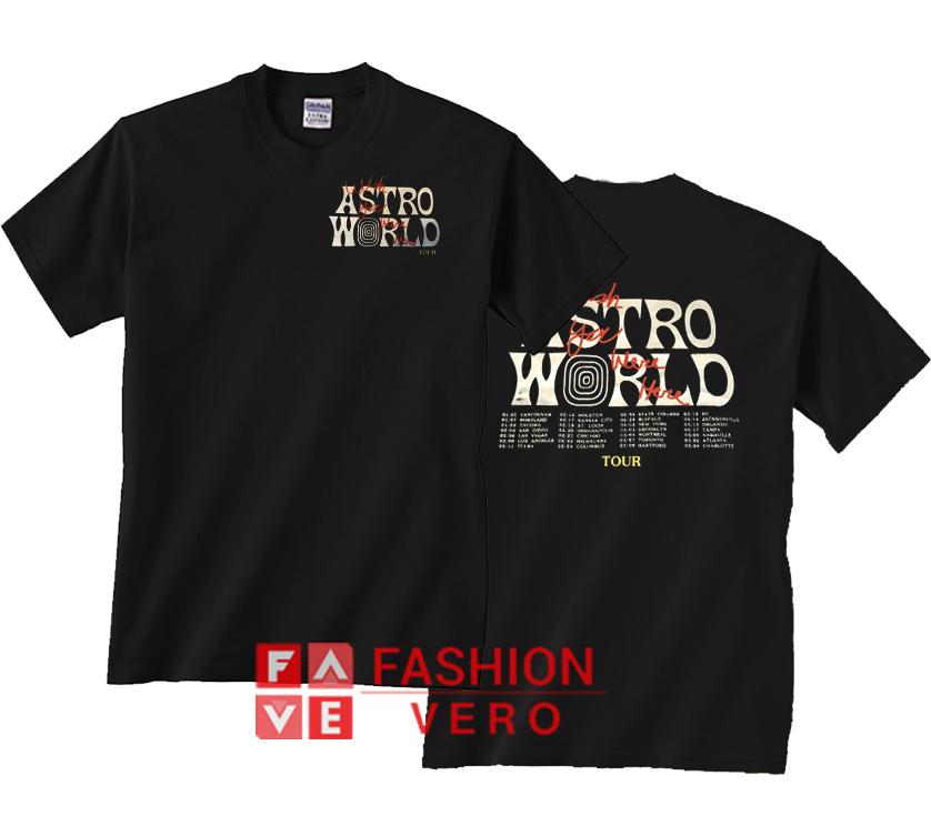 ec1ff2f3dab1 Travis Scott Astroworld Wish You Were Here Tour Unisex adult T shirt