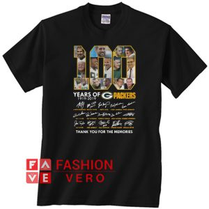 100 years of Packers thank you for the memories signature Unisex adult T shirt