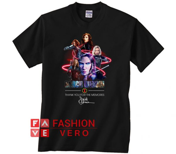Avengers Black Widow thank you for the memories Unisex adult T shirt