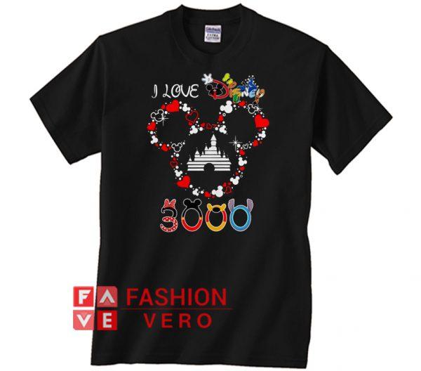 Mickey mouse I live Disney 3000 Unisex adult T shirt