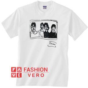 Sketched Beatles Oscar Unisex adult T shirt