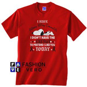 Snoopy I have primary biliary cholangitis Unisex adult T shirt
