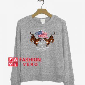 Tigers American Flag Sweatshirt