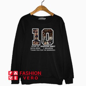 10 years of Downton Abbey thank you for the memories Sweatshirt