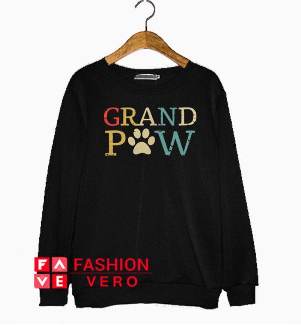 Dog paw grandpaw retro Sweatshirt